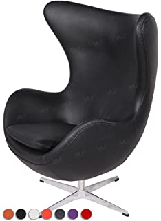 mlf arne jacobsen egg chair in top black italian leather arne jacobsen egg chair leather black