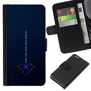Protector de cuero de la PU de la cubierta del estilo de la carpeta del tirón BY RAYDREAMMM - Apple Iphone 5C - De que lado estas