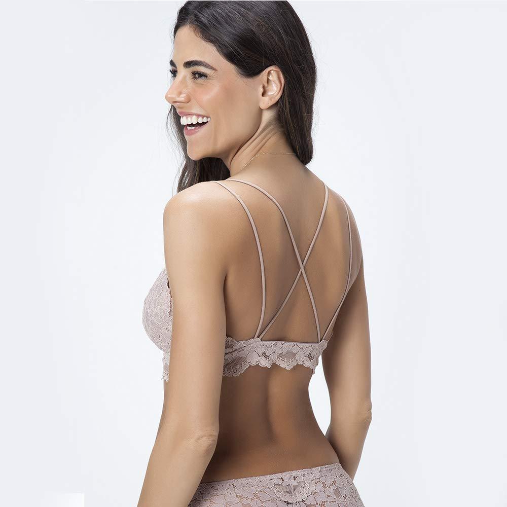 c7d1b4b21 Sutiã Top Triangulo Renda Marcela  Amazon.com.br  Amazon Moda