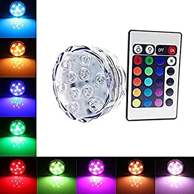 Kaimao Waterproof Submersible LED Tea Light 15 Different Colours Electronic Candle Light with Remote Control Ideal for in Water / Vase