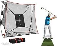 Rukket 9x7x3ft Haack Golf Net Pro   Practice Driving Indoor and Outdoor   Professional Golfing at Home Swing T