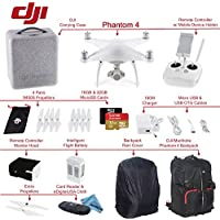 DJI Phantom 4 Quadcopter Bundle: Includes Intelligent Flight Battery, SanDisk 32GB Extreme MicroSD Card, Monitor Hood, DJI/Manfrotto Backpack for Phantom 4 and more...