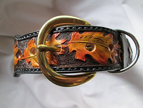 Large Dog collar, Leather Dog collar, collars, Pet collars, Female collars by DaisySto