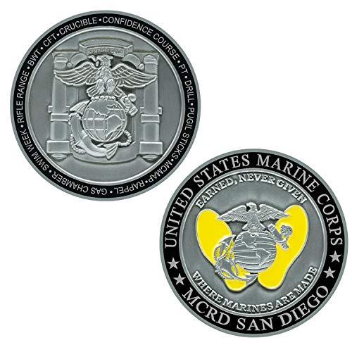 USMC MCRD San Diego Marine Corps Challenge Coin - Marine Graduation Gift ()