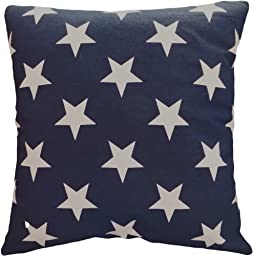 Decorative Printed Star Floral Throw Pillow Cover 18\