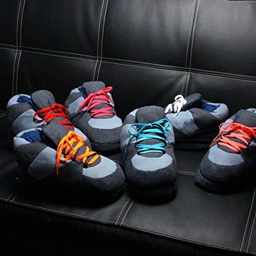 Jeans Sleeper'z Weiss 41 Lustig Pantoffeln Hausschuhe 43 Schnürsenkel Denim EU Rutschfeste Größe qCCpEw1