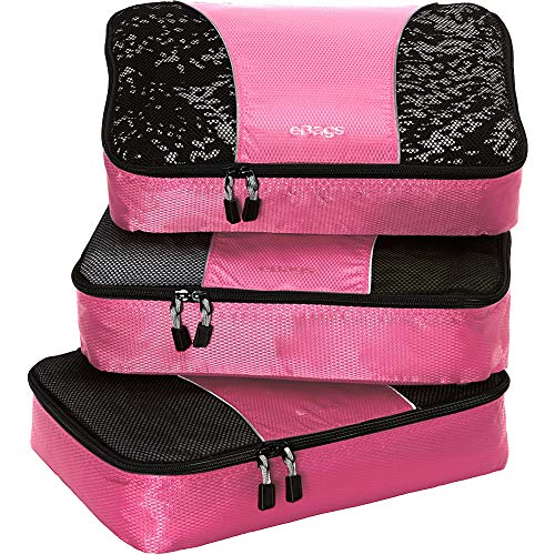 eBags Medium Classic Packing Cubes for Travel - 3pc Set - (Peony)