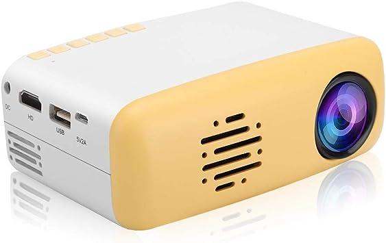 Mini Proyector, Portátil, Lindo Amarillo, LED, HD, 1080 p, Soporte ...