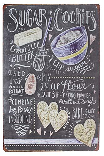 Sumik Sugar Cookies, Metal Tin Sign, Vintage Art Poster Plaque Kitchen Home Wall Decor