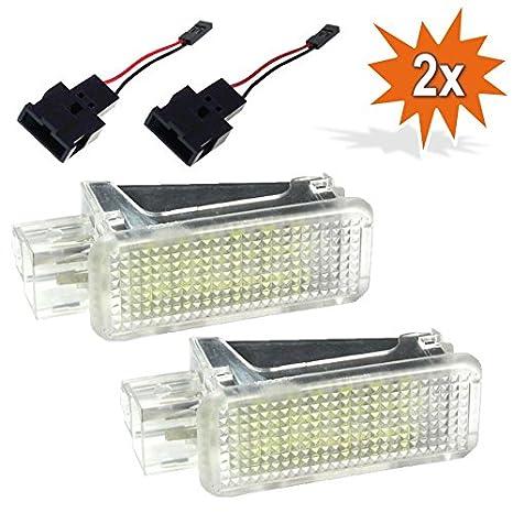 2 X LED Fußraumbeleuchtung Fußraum Licht Kofferraum Modul ROT 18 SMD für Skoda