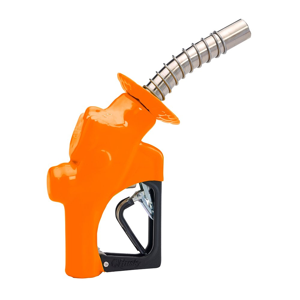 Husky 173310N-39 New VIII Heavy Duty Diesel Nozzle with Three Notch Hold Open Clip, Full Grip Guard and Orange Hand Guard