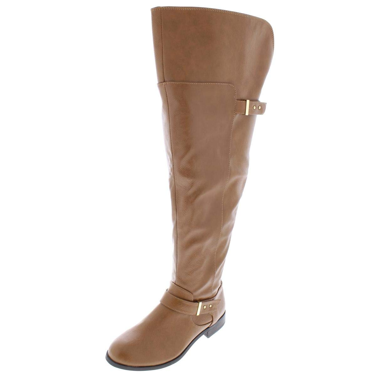 - Bar III Womens Daphne Wide Calf Over-The-Knee Boots Brown 6.5 Medium (B,M)