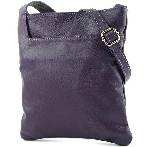 modamoda de - Made in Italy - Bolso cruzados para mujer Violeta