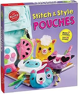 Amazon Com Klutz Stitch Style Pouches Sewing Craft Kit Klutz