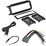 Dodge 2002-2005 RAM 2500 (Does NOT Work with 2004-05 Infinity Systems) CAR Radio Stereo CD Player Dash Install MOUNTING Trim Bezel Panel KIT + Harness + Radio Harness+ Mini to Mini 6F Cable