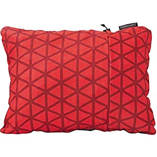 Therm-a-Rest Compressible Travel Pillow for Camping, Backpacking, Airplanes and Road Trips, Cardinal, Large - 16 x 23 Inches