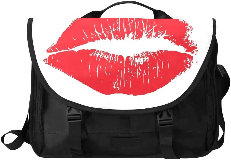 Laptop Briefcase Women Big Red Lips Track On White 116253943 Multi-Functional Womens Briefcase Laptop Bag Fit for 15 Inch Computer Notebook MacBook