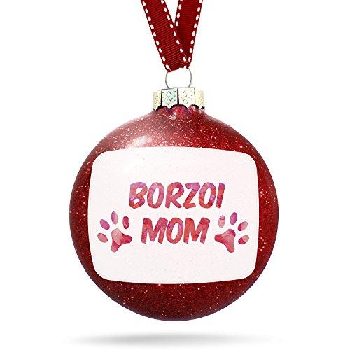 Christmas Decoration Dog & Cat Mom Borzoi Ornament