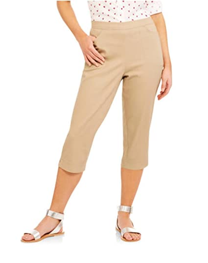 ca7f46fd54d Image Unavailable. Image not available for. Color  Real Size Women s 2-Pocket  Stretch Capri Pant ...