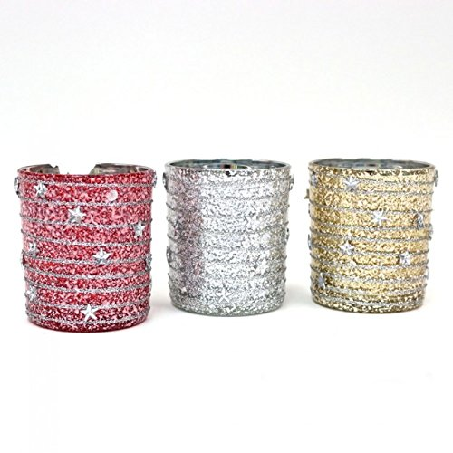 Holiday Essentials Candle Votives with Star Icons by