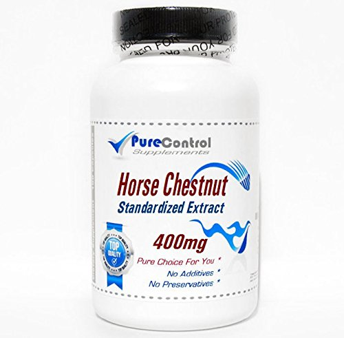 400 Mg Flowers 100 Capsules - Horse Chestnut Standardized Extract 400mg // 100 Capsules // Pure // by PureControl Supplements