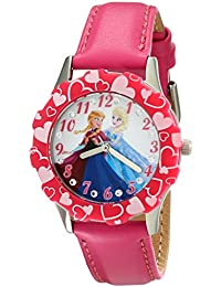 Kids' W001987 Elsa and Anna Stainless Steel Watch with Pink Band