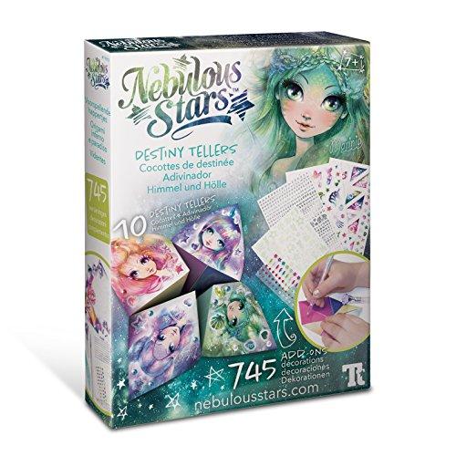 Nebulous Stars Destiny Tellers - Origami fortune teller paper art kit for up to 10 games
