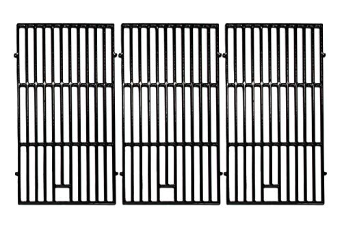 Hongso 19 1/4 inch Porcelain Coated Cast Iron Grill Grates Replacement for Brinkmann 810-8502-S 810-8501-S, Charmglow 720-0234 720-0396, Jenn-Air 720-0337 Gas Grill, Set of 3 Cooking Grates, PCE223