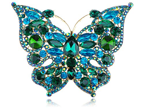 Emerald Green Rhinestone Pin - 3
