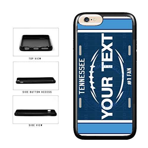 BleuReign(TM) Personalized Custom Name Football Tennessee License Plate TPU RUBBER SILICONE Phone Case Back Cover For Apple iPhone 7