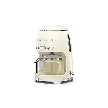 Smeg dcf0 1creu filtro cafetera eléctrica, color crema