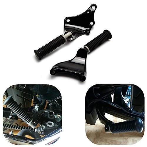 KEMIMOTO Rear Passenger Foot Pegs Foot Rest Pedal Mount Kit for Sportster IRON XL 883 1200 48 72 2014 2015 2016 2017 (Kit Peg Passenger)
