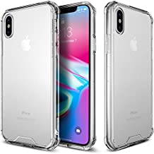 iPhone X Case, rooCASE Plexis Ultra Slim & Lightweight Hybrid Clear Back Case Cover for Apple iPhone 10, Crystal Clear
