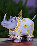 Patience Brewster 5.5'' Krinkles Roberta Rhino Decorative Christmas Figure Ornament