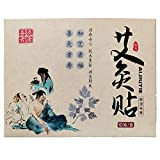 Moxibustion Patches Natural Herb Self-Heating smokeless Wormwood Sticker Artemisia Mugwort Moxa Pads Chinese Medicine Herbal Paste of Patch (10 Packs)