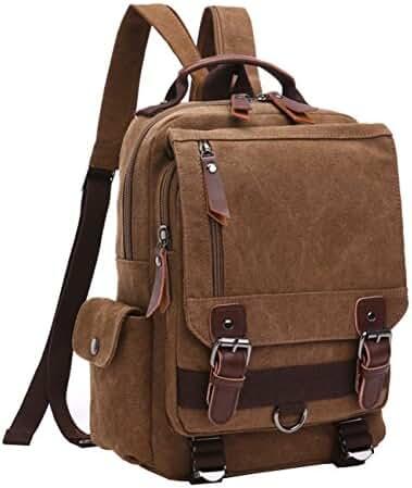 Mygreen Canvas Cross Body Messenger Bag Shoulder Sling Backpack Travel Rucksack