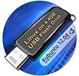 Kubuntu 12.04 on 8gb USB Stick Flash Drive, plus CD and Quick-Reference Guide