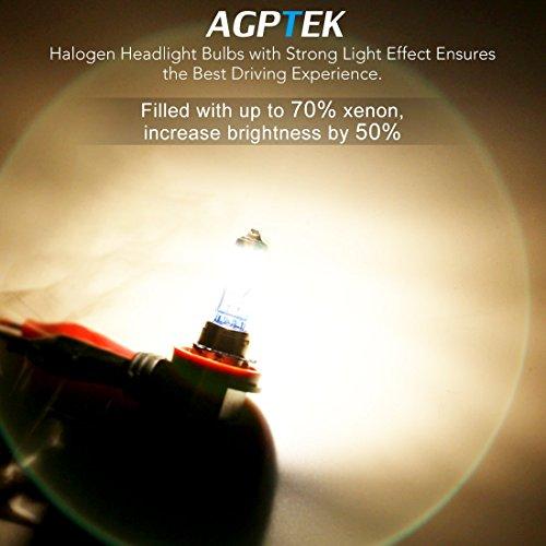 AGPTEK H11 Halogen Xenon Headlight Bulbs, 2 Pack by AGPTEK (Image #1)