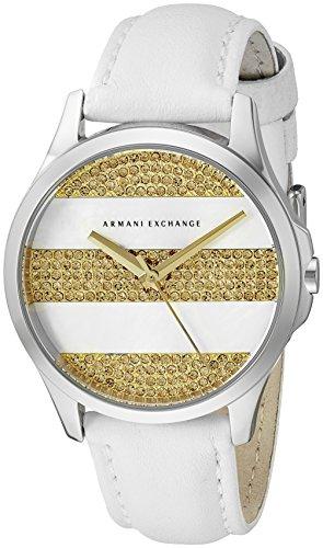Armani Exchange Women's AX5240 White Leather Watch
