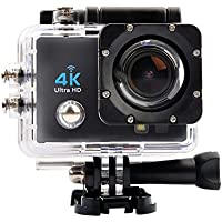 OTHA 4K Sports Action Video Camera MAX 30M Waterproof 1080P Underwater Camera with 170 Degree Wide Angle Lens and 900mAh Rechargeable Battery (Black)