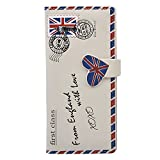 Shag Wear Women's Large Wallet Letter From England Cream