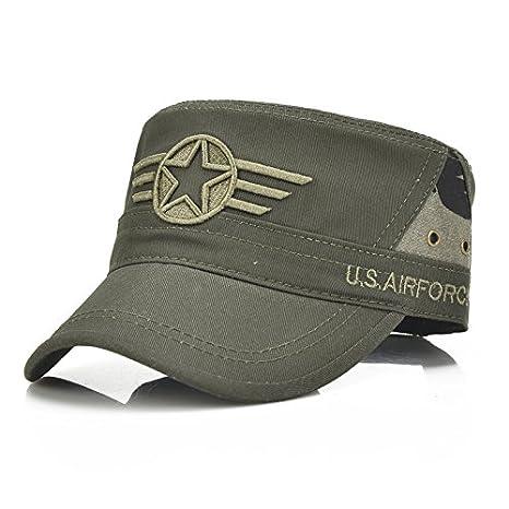 Llxln 100% Algodón Gorra del Ejército Estrella De Cinco Puntas ...