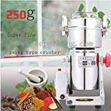 Stainless Steel Medicine Mill + Household Electric Mill, 250 Grams of Small Powder Machine + Ultrafine Grinding Machine