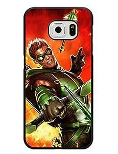 7190179M400544908 Galaxy S6 Edge Case, Green Arrow Series Uncommon Durable Case Cover Slim Fit for Samsung Galaxy S6 Edge Customized LO.O Case