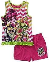 Monster High Girls' 2pc Pajamas Sleep Shorts Sets