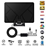 TV Antenna, Skywire TV Antenna with Stand, Up To 150 Miles Range, Support 1080P 4K, HD Digital TV Antenna with HDTV Amplifier Signal Booster Indoor, 16.4 Feet High Performance Coaxial Cable