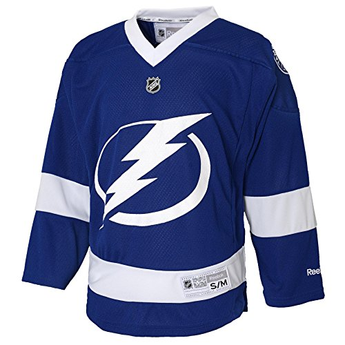 NHL Tampa Bay Lightning Replica Youth Jersey, Dark Blue, Large/X-Large (Tampa Bay Lightning Ice Hockey)