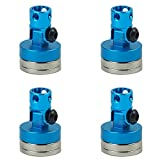 4 Pcs Alloy Magnetic Stealth Invisible Body Post Mount Upgrade Parts for 1/10 HSP RC Car Blue