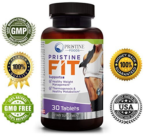 PRISTINE FOODS FIT ★ Natural Thermogenic Fat Burner ★ Carb Metabolism Lean Muscle Supplement ★ Appetite Suppressant Blood Sugar Support Blend ★ Energy Mood Endurance Focus ★ NONGMO ★ Made in USA