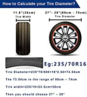Tire Covers for RV Wheel 30 inch Set of 4 Waterproof Oxford Tires Protector Covers for Motorhome Truck Trailer Camper Auto 30 for Tire Diameter 76cm, Tire Width 30cm